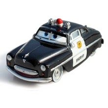 Disney Pixar Cars 2 Police Sheriff Diecast Metal Alloy Model Car Cute Toys For Children 1:55 Loose New Brand In Stock(China)