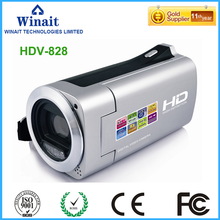 2017 popular cheap digital camcorder HDV-828 max 32GB memory lithium battery 720p hd foto camera 4x digital zoom fixed focus