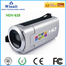 2017 popular cheap digital camcorder HDV-828 max 32GB memory lithium battery 720p hd foto camera 4x digital zoom fixed focus(China)