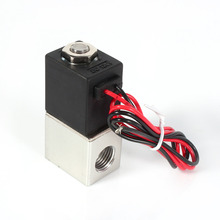 "1/4"" 2 Way Normally Closed Pneumatic Aluminum Electric Solenoid Air Valve 12V DC"