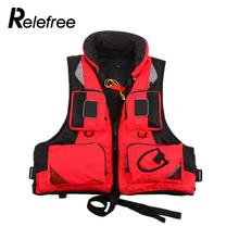 Relefree Unisex Polyester Fishing Life Jacket L-XXL Outdoor Sport Safety Life Vest For Boat Drifting Survival Swimwear Colete