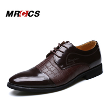 MRCCS Crocodile Pattern Leather Men's Wedding Shoes,For Business Dress Formal Wear,Luxury Style Male Brand Shoes Spring/Winter(China)
