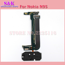 (10 pcs/lot) Free shipping New flex cable for nokia N95 flex cable ribbon with real camera Repair parts