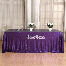 "90""X132'' Sequin Tablecloth Rectangle sequin tablecloth sequin table cloth overlay for wedding 17 colors wholesale(China)"