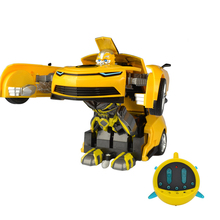 Actionclub Remote Control Car Deformation Robot Children Electric Toys One Key Deform Transformation Cool Dynamic Robot Toy(China)
