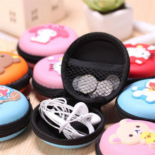 Cute Cartoon Earphones USB Cables Wire Battery key Storage Box charger SD TF Card Solid Keep Shape Net Zipper Coin Bag Case Gift(China)