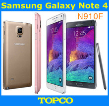 "Samsung Galaxy Note 4 N910F Original Unlocked Android Mobile Phone Quad-core 3GB RAM 3G&4G GSM 5.7"" 16MP 32GB WIFI GPS(China)"
