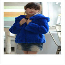 2017 Fashion Autumn Winter Children Rabbit Fur Coats Winter Baby Girls Warm Thick Short Section Hooded Fur Outwear Jackets C#02(China)
