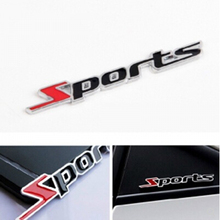 car styling 3D metal Sports stickers Accessories opel volkswagen golf 7 vw bmw e87 bmw e91 ford focus 2 renault clio 4