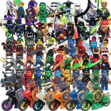 2017 HOT ninja Kai Jay Cole Zane Nya Lloyd With Weapons Action Toy Figure Blocks Compatible LegoINGlys NINJAGOINGlyS