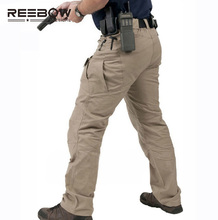 IX7 Urban Tactical Cargo Pants Men Outdoor Sports SWAT Force Training Multi-pockets Trousers Overalls Cotton Military Army Pant(China)