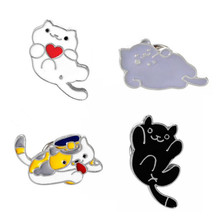 Meow star people men and women drip cute cat brooch brooches pins micro chapter accessories The beautiful girl gift brooch