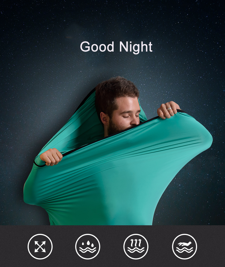 High Elasticity Mummy Camping Ultralight Sleeping Bag Liner Portable Sheet