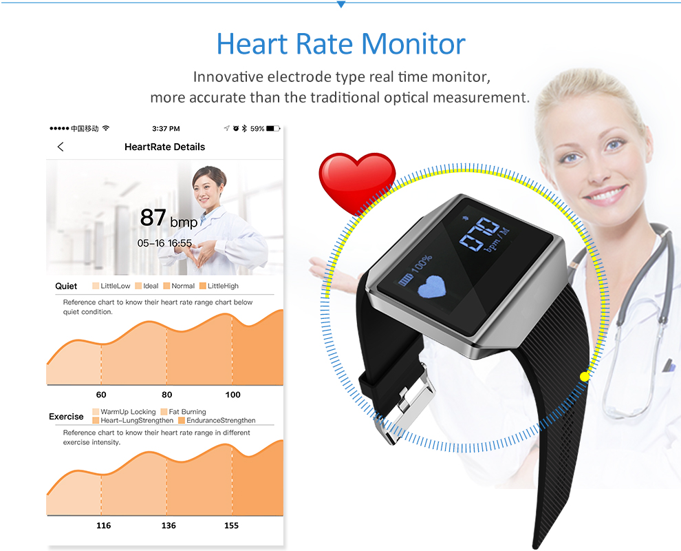 CK12 graphene smart watch ECG heart rate blood pressure sleep monitoring smart wristbands for android ios pedometer sport watch 8
