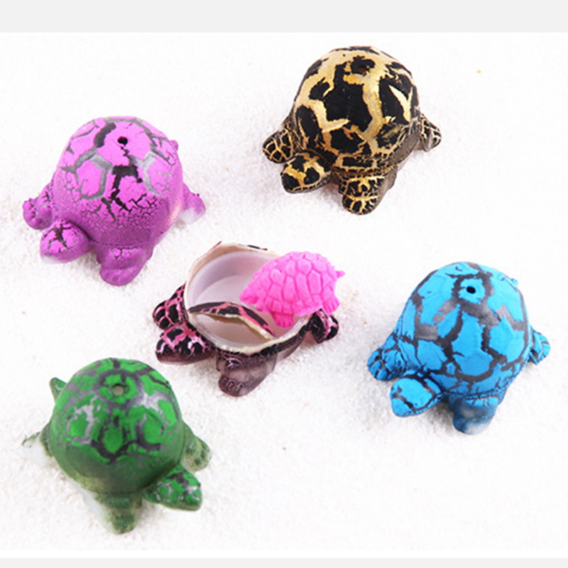 Creative 6Pcs/set Tortoise Model Hatch Gags Practical Jokes Bubble Big Turtle Magic Hatching Eggs for Baby Early Educational(China)