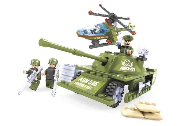 Ausini model building kits compatible with lego city tank 891 3D blocks Educational model &amp; building toys hobbies for children<br><br>Aliexpress