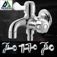 Free Shipping Chrome Brass Cold Water Wall Tap Garden Piscinas Long Washing Machine Water Tap Basin Faucet Bibcock