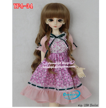 OUENEIFS free shipping chloe longuette lesbian Plaid skirt bowknot 1/4 bjd sd customization baby clothes, no doll or wig(China)