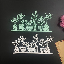 Lovely Pet New Flowers Metal Cutting Dies Stencil DIY Scrapbooking Embossing Album Paper Card Craft 70808(China)