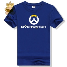 Hot gamer tee shirt gift for boyfriend OW LOGO t shirt watch over men's tee shirt ac258