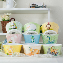 1pc Creative Bowl Lovely Hand Painted Animal Bowl For Children Bone China Ceramic Bowl Cartoon Tableware Flatware 12 Animals(China)