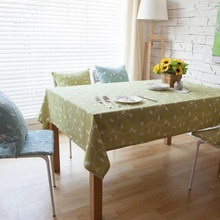British Simple Green Korean Style Embroidered Table Cloth Cotton Fabric Tablecloths Table Cloth Round Wedding Decoration Table