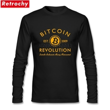2018 Brand 90S T Shirt Bitcoin Revolution Men's Best Fitting Long Sleeved Autumn Tees Shirt(China)