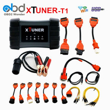 Professional XTUNER T1 Heavy Duty Truck Diagnostic Tool With WIFI USB For Truck Read ECU ABS Scan Tool Scanner DHL Free Shipping(China)