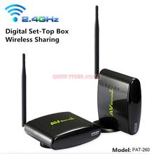 PAT-260 2.4G 350M Wireless AV Sender Transmitter Receiver With IR Remote Extender With EU US UK AU Plug PAT260 PAT - 260(China)