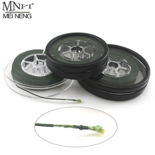 1 Spools Carp fishing line Coated Hook Link 25Lbs & 35Lbs Each Spool Coated Braid hair rig Quick Sinking Carp Lines 5M/10M(China)