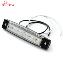 New 5 Color 12V 6 LED Bus Truck Trailer Lorry Side Marker Indicator Light Side Lamp Amber Red Green Blue White(China)
