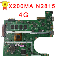 Free shipping Original laptop Laptop motherboard FOR ASUS X200MA K200MA F200MA mainboard With N2815 CPU Integrated fully test