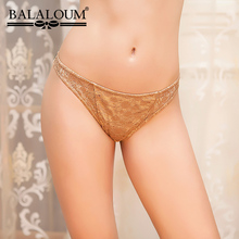Buy BALALOUM Women Sexy Lace Floral Hollow Panties Seamless Transparent T Back Thongs Female Underwear Ladies Lingerie G-String