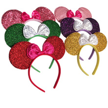Baby Girls Minnie Mickey Mouse Ears Headband Kids Bow Hair Accessories Women Clips 2017 Hairband Birthday Wedding Headdress - CHuangQi Official Store store