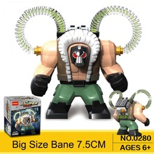 2017 Super Heroes Big Size Action Figures Single Sale Bane Model Building Blocks 7.5Cm Diy Toy For Children Decool0280(China)