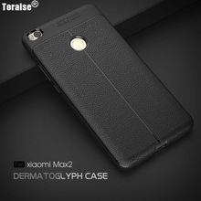 Toraise Mi Max2 Case Luxury Leather Veins Soft TPU Back Cover Case For Xiaomi Mi Max 2 Funda Moblie Phone Bag Coque Anti-knock(China)