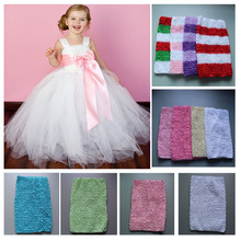 New Arrival 20cm X 23cm kids Girl 9Inch Crochet Tutu Tube Tops Chest Wrap Wide Crochet headbands Free Shipping 10pcs/lot
