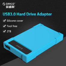 ORICO USB To Sata 3.0 Hard Drive Adapter,SATA Adapter Tool Free for 2.5 inch Mobile HDD Box HDD Adapter with Silicone(China)