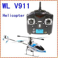 free shipping 2011 WL V911 4CH 2.4GHz Mini Radio Single Propeller / single blade RC Helicopter Gyro WL V911 RTF Wholesale(China)
