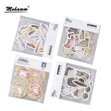 Creative Kawaii Feather Wreath Clothes Gilding Paper Sticker Decoration Diy Ablum Diary Scrapbooking Label Stickers Stationery(China)