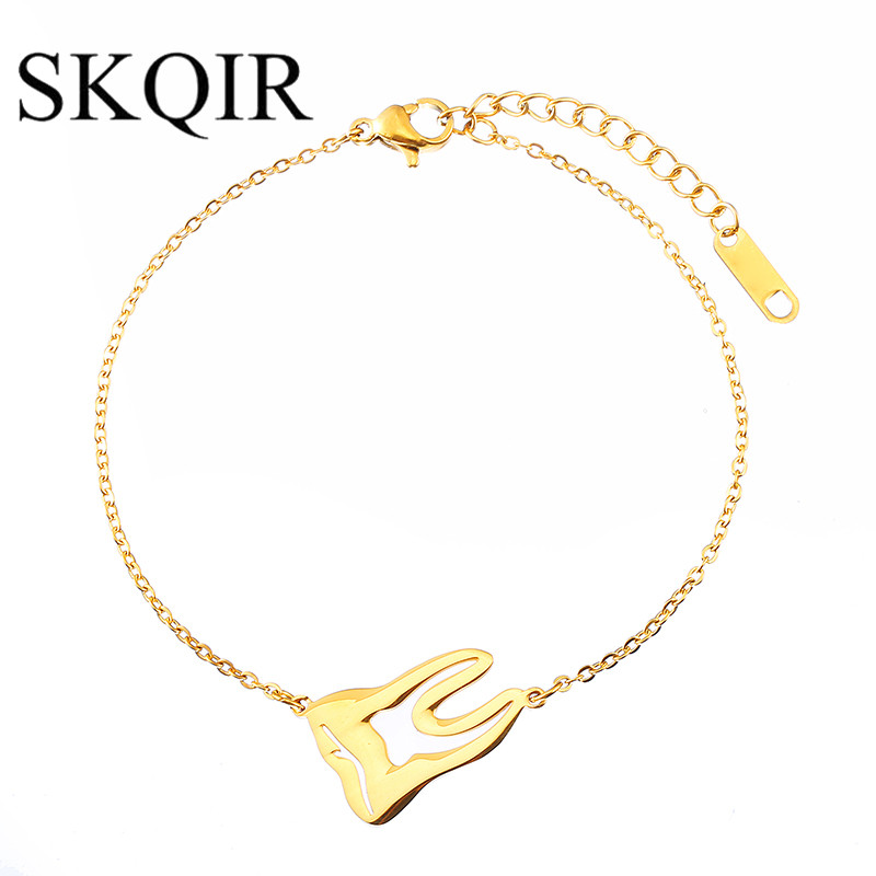 SKQIR Fashion Women Accessories Medical Teeth Bracelets Doctor Nurse Men Jewelry Tooth Bracelet Stainless Steel Chain