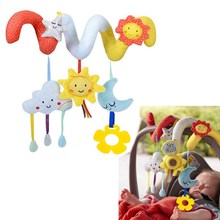 Buy Cartoon Style Baby Rattles 0-12 Months Newborn Kids Educational Music Rattles Mobile Baby Toys Infant Bed Stroller Hanging Toy for $7.77 in AliExpress store