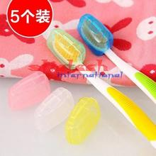by dhl or ems 2000set 5 PCS/set Trip Toothbrush Head Cover Cap Camping Brush Cleaner Protecter(China)