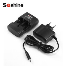 Soshine S5 2 Slots Smart Intelligent Battery Rapid Charger EU Plug For Li-ion CR123 CR2 16340 15266 14250 Lithium Battery(China)