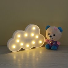 3D Marquee Cloud Cute Night Light with 11 LEDs and Battery Operated Cloud Shape Letter Light for Holiday Decoration Kid's Gift