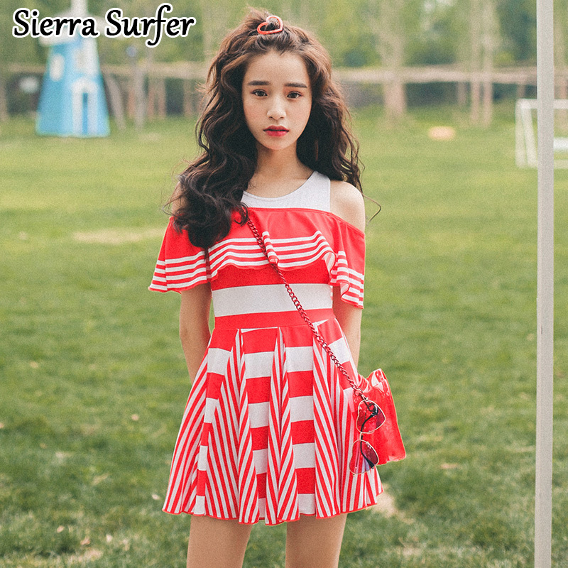Swimwear Large Size One Piece Swimsuit Sports Female Swim Suit Swimming For Women Push Up 2018 Suits Skirt Sexy Breasts Cotton<br>