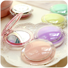 Girl Mini Pocket Makeup Mirror Cosmetic Compact Mirrors Portable Double Dual Sides Acrylic Frame Cosmetic Makeup Mirrors P