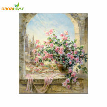 Digital Painting DIY Hand-Painted Decoration Window Scenery Wall Art Painting By Numbers Canvas Painting For Painting(China)
