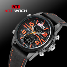 KATWATCH2017 sporting goods watch men high-end watches wholesale manufacturers double core belt multi-function(China)