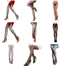 Buy Chic Thin Fishnet Stocking Women Punk Fishnet Tights Elastic Tattoo Jacquard Pantyhose Hollow Tights Solid Color Tights